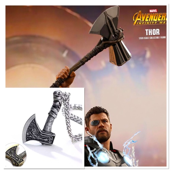 """Thor's """"Stormbreaker"""" Stainless Steel Necklace"""